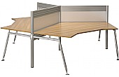 Acclaim 3 Way Cluster Desks