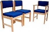 Wood Frame Occasional Reception Chairs