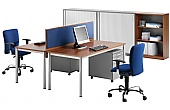 BN Easy Space Fixed Height Round Leg Desks