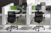 BN SQart Workstation Desks With Orga Towers