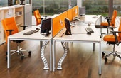 BN Primo Space Veneer Sloped Desks