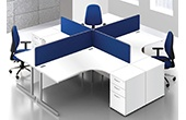 Commerce II White Office Desks