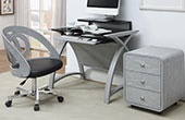 Spectrum Grey Veneer Home Office