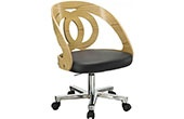 Spectrum Oak Real Wood Veneer Office Chair