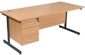 NEXT DAY Karbon K1 Fixed Pedestal Desks