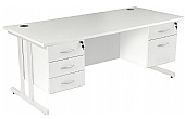 NEXT DAY Karbon K3 Fixed Pedestal Desks