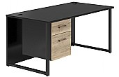 NEXT DAY Noir Hoop Leg Desks