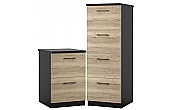 NEXT DAY Noir Filing Cabinets