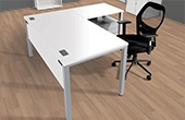 Commerce II Executive White Office Desks