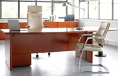Corniche Real Wood Veneer Office Desks