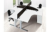 Commerce II Systems White Office Desks