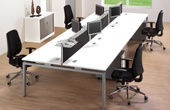 Commerce II Bench White Office Desks