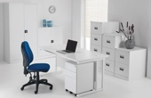 Commerce II Deluxe White Office Desks