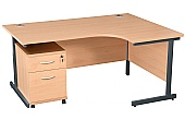 NEXT DAY Karbon K1 Ergo Mobile Pedestal Desks