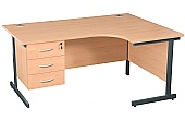 NEXT DAY Karbon K1 Ergo Fixed Pedestal Desks