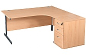 NEXT DAY Karbon K1 Ergo Desk End Ped Desks
