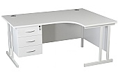 NEXT DAY Karbon K3 Ergo Fixed Pedestal Desks