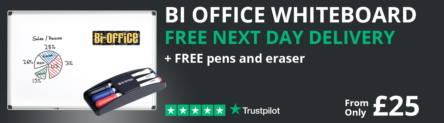 Bi Office Contract Whiteboards + FREE Pens & Eraser
