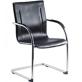 Guest Leather Effect Visitor Chair