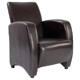 Norfolk Chocolate Leather Look Armchair £252 -