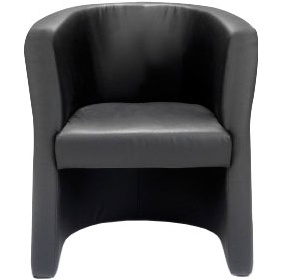 New York Leather Faced Tub Chair £189 -