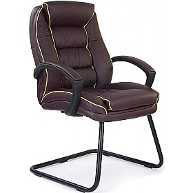 Rome Leather Faced Visitor Chair