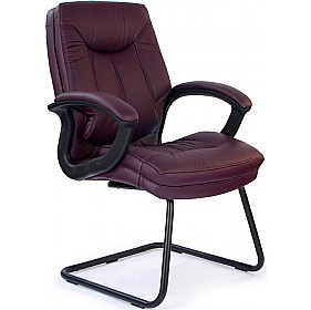 Madrid Leather Faced Visitor Chair