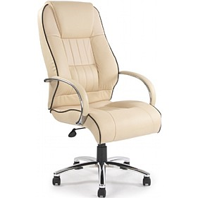 Plymouth Cream Leather Faced Manager Chair £234 -