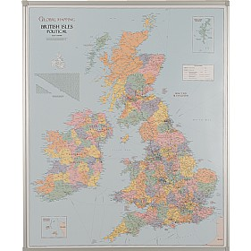 UK County Boundaries Map £209 -