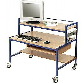 Fixed Height Two Tier Computer Trolleys £293 -