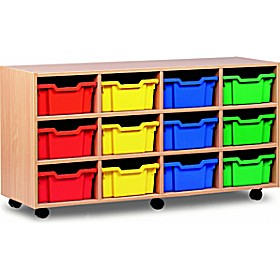 12 Tray Deep Mobile Storage £0 -