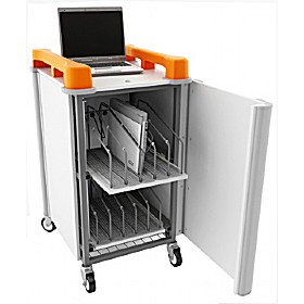 LapCabby 10V - 10 Vertical Laptop Store and Charging Trolley £0 -