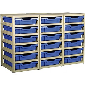 GratStack 3 Column Unit With 18 Shallow Trays £0 -