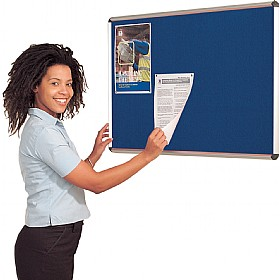 Express Stock Aluminium Frame Shield Noticeboards