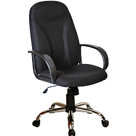 Perth Chrome Ergo Fabric Manager Chairs £89 -