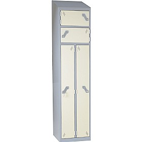 Fully Welded Sloping Top Siamese Lockers £0 -