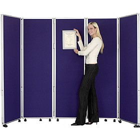 Concertina 5 Panel Mobile Display & Room Dividers £326 -