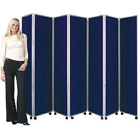 Concertina 7 Panel Mobile Display & Room Dividers £430 -