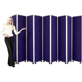 Concertina 9 Panel Mobile Display & Room Dividers £595 -