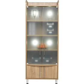 Trilogy Tall Wide Glass Storage Unit