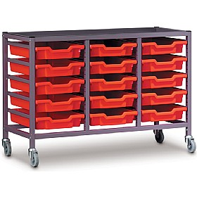 Gratnells Triple Column 15 Tray Storage Trolley £0 -