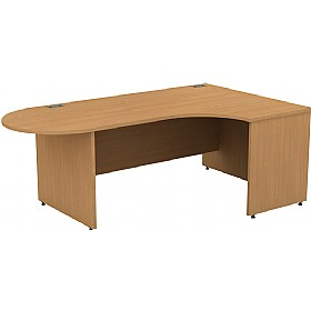 Alpha Plus Panel End Executive Radial D-End Desk £441 -