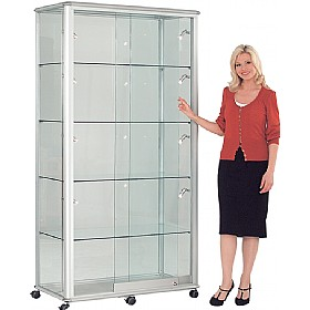 Shield Wide Tower Display Cabinet £1881 -