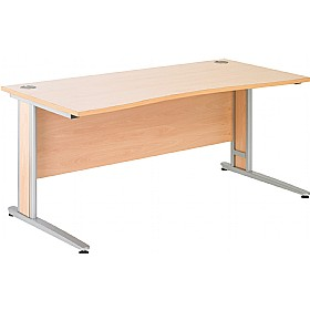 NEXT DAY Gravity Deluxe Cantilever Double Wave Bow Desk