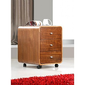 Spectrum Walnut Real Wood Veneer Pedestal