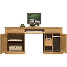 cavalli solid oak executive computer desk static computer desks rh officefurnitureonline co uk executive style computer desk executive computer desk with hutch
