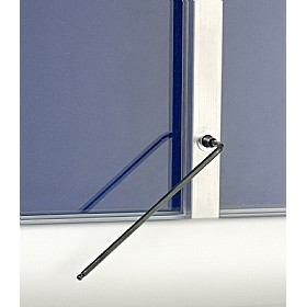 Province Acrylic Sliding Door Tamperproof Noticeboards