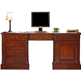 Argento Solid Mahogany Executive Computer Desk