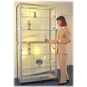 Wide Mobile Glass Showcase With Sliding Doors £1259 -