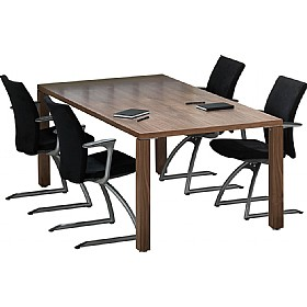 Sven Fulcrum Accent Real Wood Veneer Boardroom Table